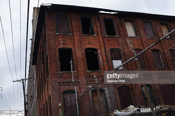 A shuttered factory sits empty on September 18 2011 in Bridgeport Connecticut Despite some of the poorest cities in the country Connecticut has the...