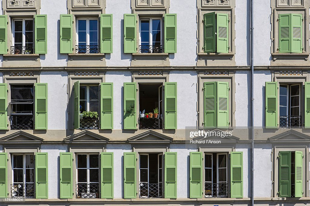 Shuttered windows in the old town