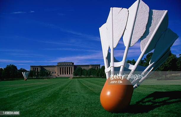 'Shuttlecock' sculpture by Claes Oldenburg and Coosje Van Bruggen, Nelson-Atkins Museum of Art.