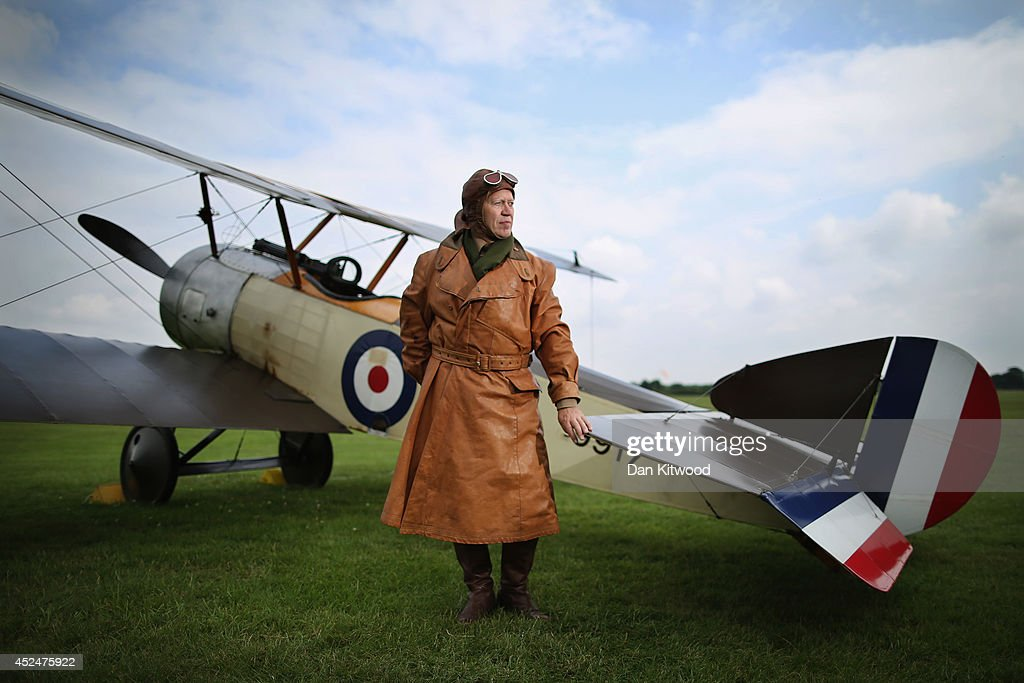 Shuttleworth Collection Pilot Rob Millinship, poses next to a Sopwith Pup during a photocall at 'The Shuttlesworth Collection' on July 21, 2014 in Biggleswade, England. Of the 55,000 planes that were manufactured by the Royal Army Corps (RAC) during WWI, only around 20 remain in airworthy condition. Six of these belong to The Shuttleworth Collection at Old Warden, Bedfordshire, making it the most complete collection of original airworthy WWI aircraft in the world. Amongst the collection is the SE5a. The SE5a is a single seater fighter aircraft. It is an original biplane designed by the Royal Aircraft Factory, with its engine built by Wolseley Motors Ltd, and it was issued to 84 Squadron in November 1918. The National Archive in Kew has recently verified that the plane saw action in France with 84 Squadron the day before Armistice, November 10, 1918.