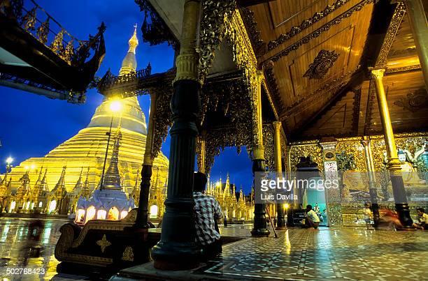 Shwedagon Pagoda in Rangoon