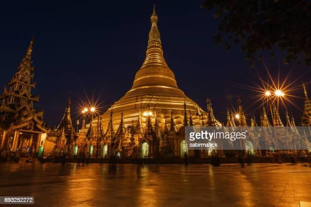 Shwedagon Pagoda or Golden Pagoda, Yangon, Myanmar.