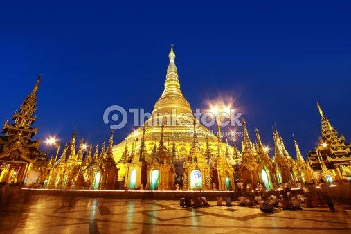Shwedagon pagoda : Stock Photo