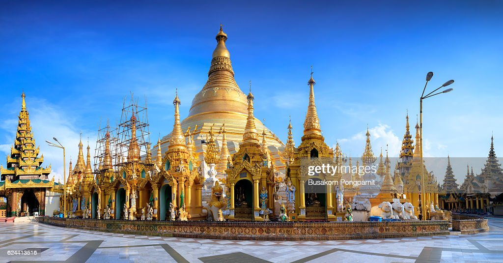 Shwedagon pagoda : Stock Photo
