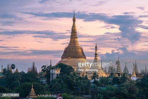 Shwedagon pagoda the heart of Yangon, Myanmar.Myan