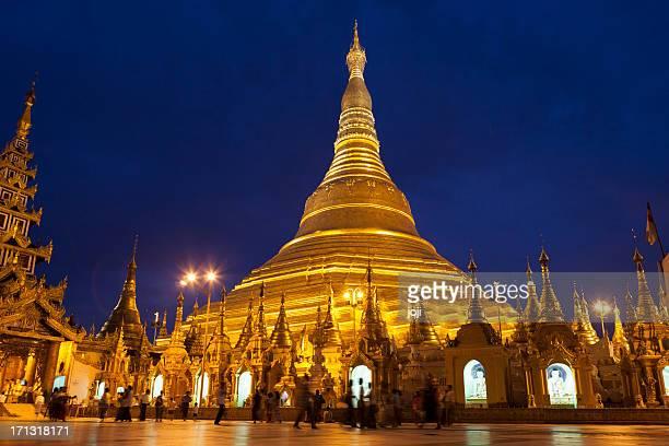 Shwedagon Paya At Night