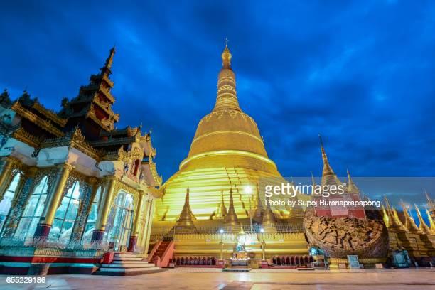 Shwemawdaw paya the most famous pagoda in bago , myanmar