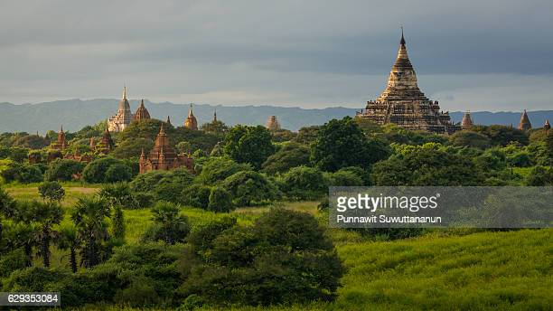 Shwesandaw pagoda landmark of Bagan ancient city, Mandalay, Myanmar