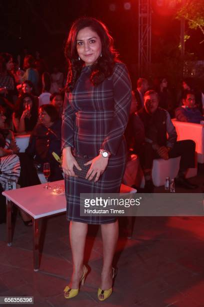 Shweta Karthik during a special show curated by designer duo Shantanu Nikhil for the travel platform Airbnb on March 19 in New Delhi India Of the...