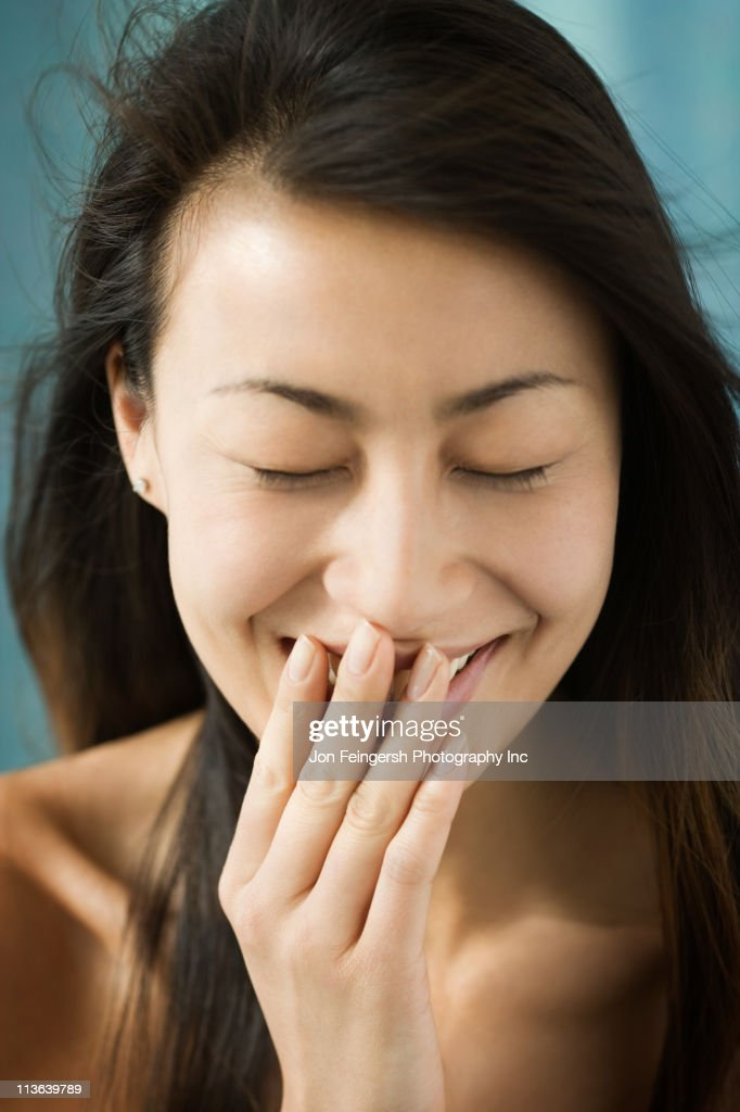 Shy Chinese woman : Stock Photo