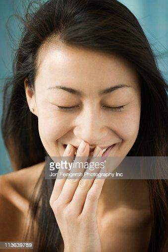 Shy Chinese woman : Stock Photo