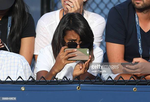 Shy'm attends Benoit Paire of France doubles match on day 5 of the 2016 US Open at USTA Billie Jean King National Tennis Center on September 2 2016...