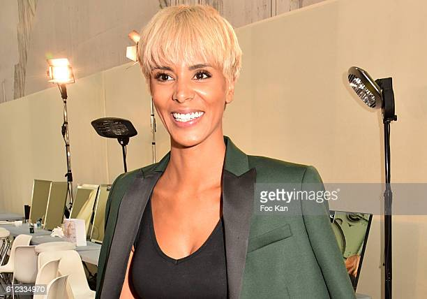 Shy'm attends the Backstage of Leonard Paris show as part of the Paris Fashion Week Womenswear Spring/Summer 2017 on October 3 2016 in Paris France