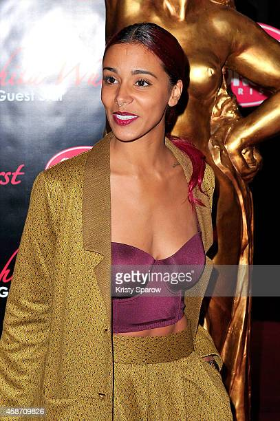 Shy'm attends the Conchita Wurst Crazy Horse Show Premiere at Le Crazy Horse on November 9 2014 in Paris France