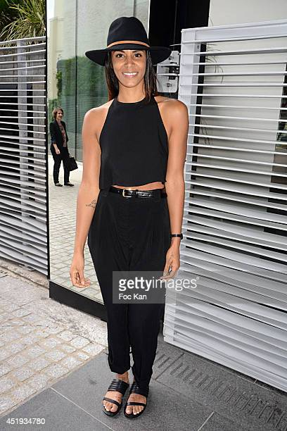 Shy'm attends the Frank Sorbier show as part of Paris Fashion Week Haute Couture Fall/Winter 20142015 Held at Salle Wagram on July 9 2014 in Paris...