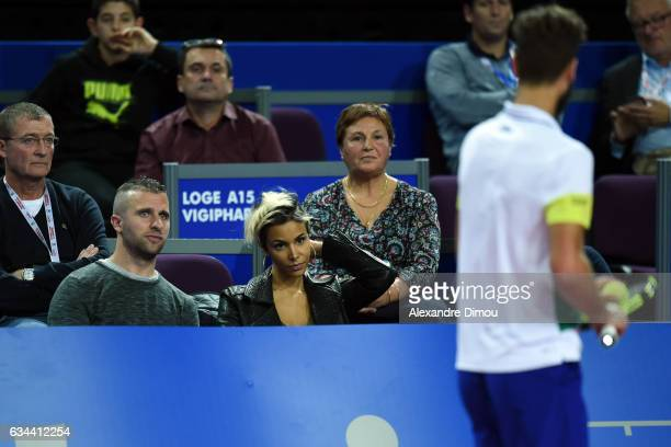 Shym French Singer and Girlfriend of Benoit Paire during the Open Sud de France on February 9 2017 in Montpellier France