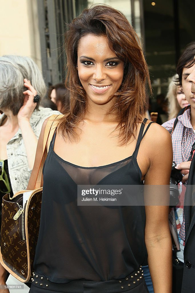 Shy'm leaves the Jean-Paul Gaultier Haute-Couture Show as part of Paris Fashion Week Fall / Winter 2012/13 on July 4, 2012 in Paris, France.