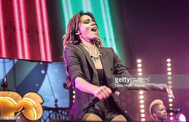 Shy'm performs at Le Zenith on July 12 2012 in Paris France