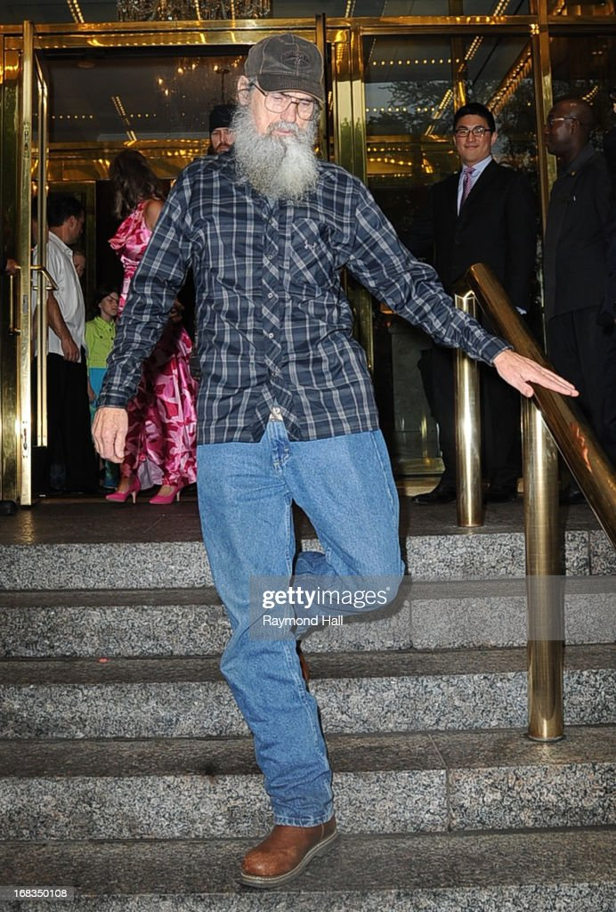 Si Robertson is seen outside the Trump Hotel on May 8, 2013 in New York City.