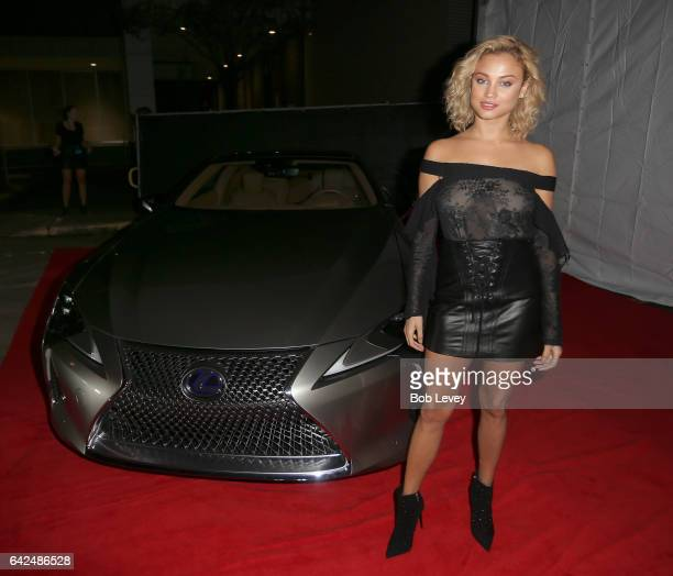 Si Swimsuit model Rose Bertram at the VIBES by Sports Illustrated Swimsuit 2017 launch festival on February 17 2017 in Houston Texas