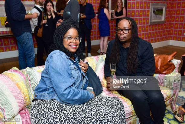 Sia Alika and John Simon attend the launch of The Collector Geneva's Sophie Bonvin Code Collection in Collaboration with artist Bill Claps at Crosby...