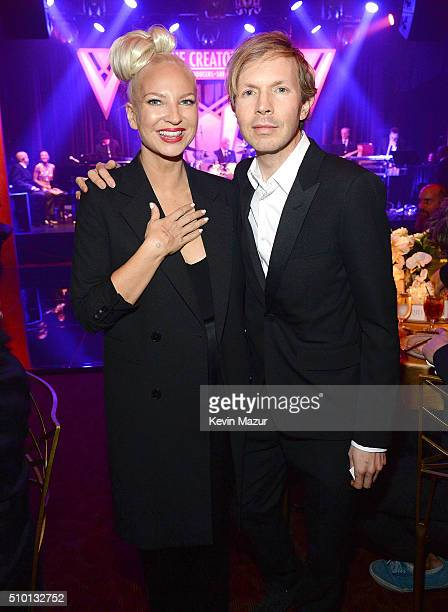Sia and Beck attendÊThe Creators PartyÊPresented by Spotify at Cicada on February 13 2016 in Los Angeles California