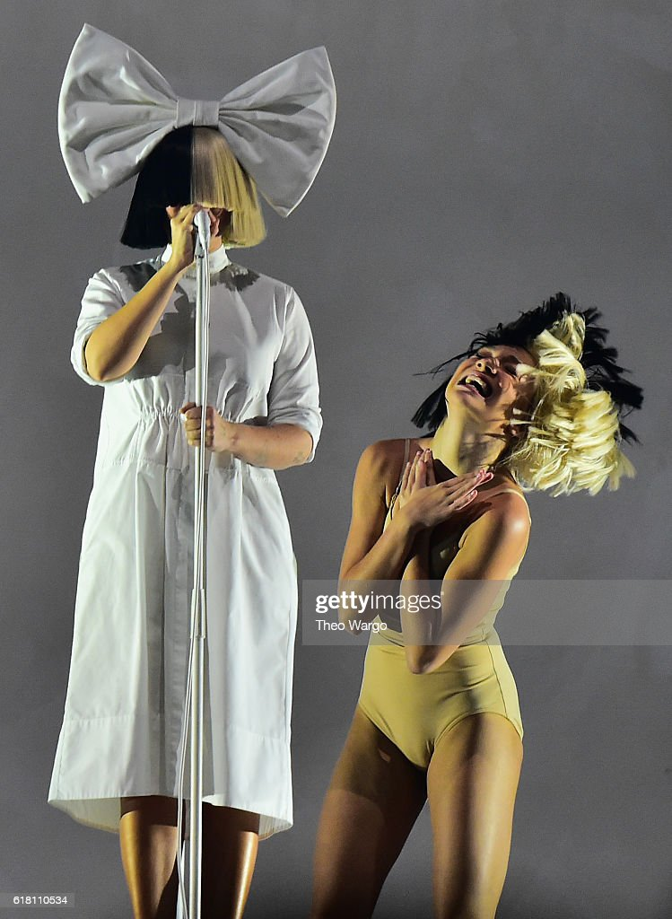 Sia and dancer Maddie Ziegler perform at Barclays Center on October 25, 2016 in New York City.