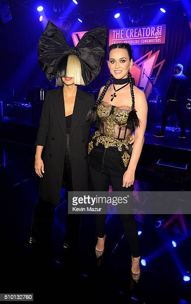 Sia and Katy Perry attendÊThe Creators PartyÊPresented by Spotify at Cicada on February 13 2016 in Los Angeles California