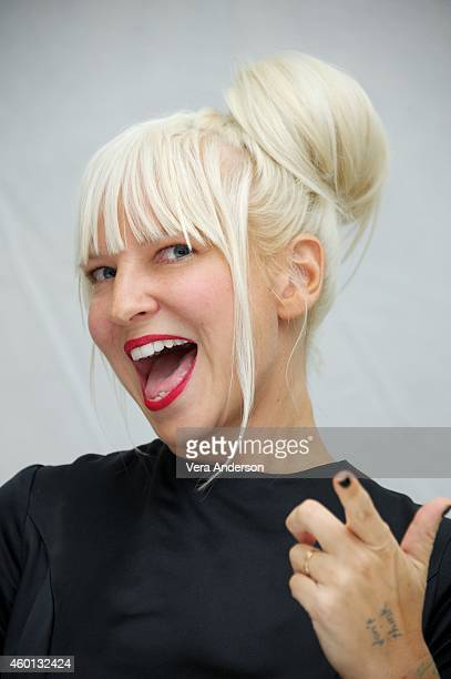 Sia at the 'Annie' Press Conference at The London Hotel on December 3 2014 in New York City
