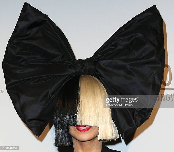 Sia attends The Creators Party Presented By Spotify Cicada Los Angeles on February 13 2016 in Los Angeles California