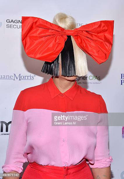 Sia attends the GEMS' 2015 Love Revolution Gala at Pier 59 on October 15 2015 in New York City