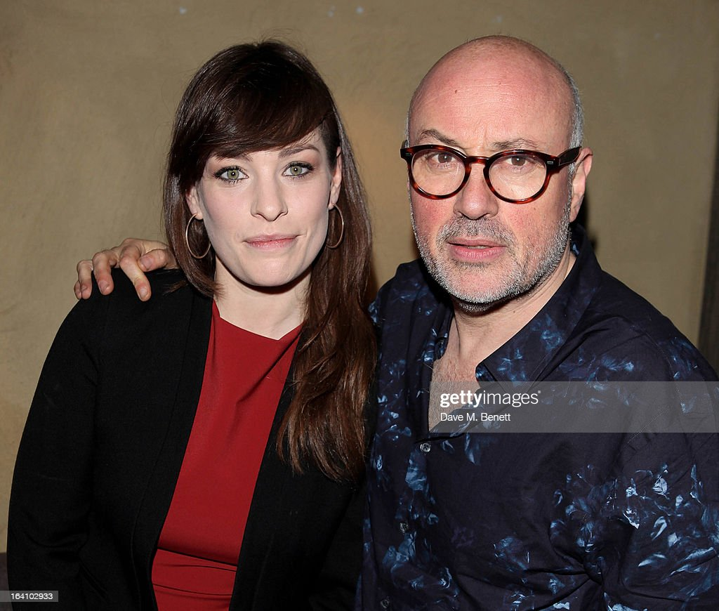 Sia Berkeley (L) and director Lindsay Posner attend an after party following the press night performance of The Old Vic's 'The Winslow Boy' at Baltic Restaurant on March 19, 2013 in London, England.