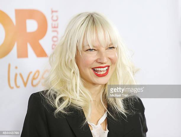 Sia Furler arrives at the 15th Annual Trevor Project Benefit held at Hollywood Palladium on December 8 2013 in Hollywood California