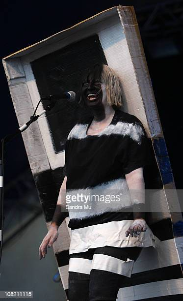 Sia Furler of Sia performs on stage during the Big Day Out Festival at Mt Smart Stadium on January 21 2011 in Auckland New Zealand