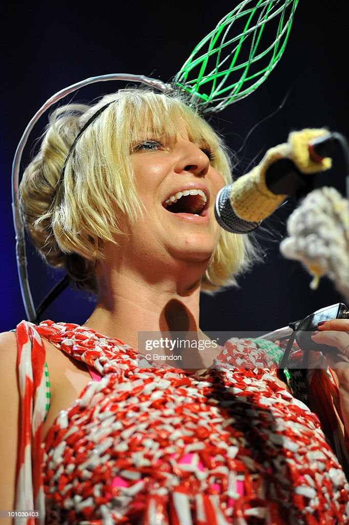 Sia Furler performs on stage at The Roundhouse on May 27, 2010 in London, England.