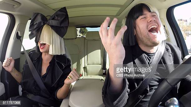 Sia joins James Corden for Carpool Karaoke on 'The Late Late Show with James Corden' airing Monday February 15th 2016 on The CBS Television Network...