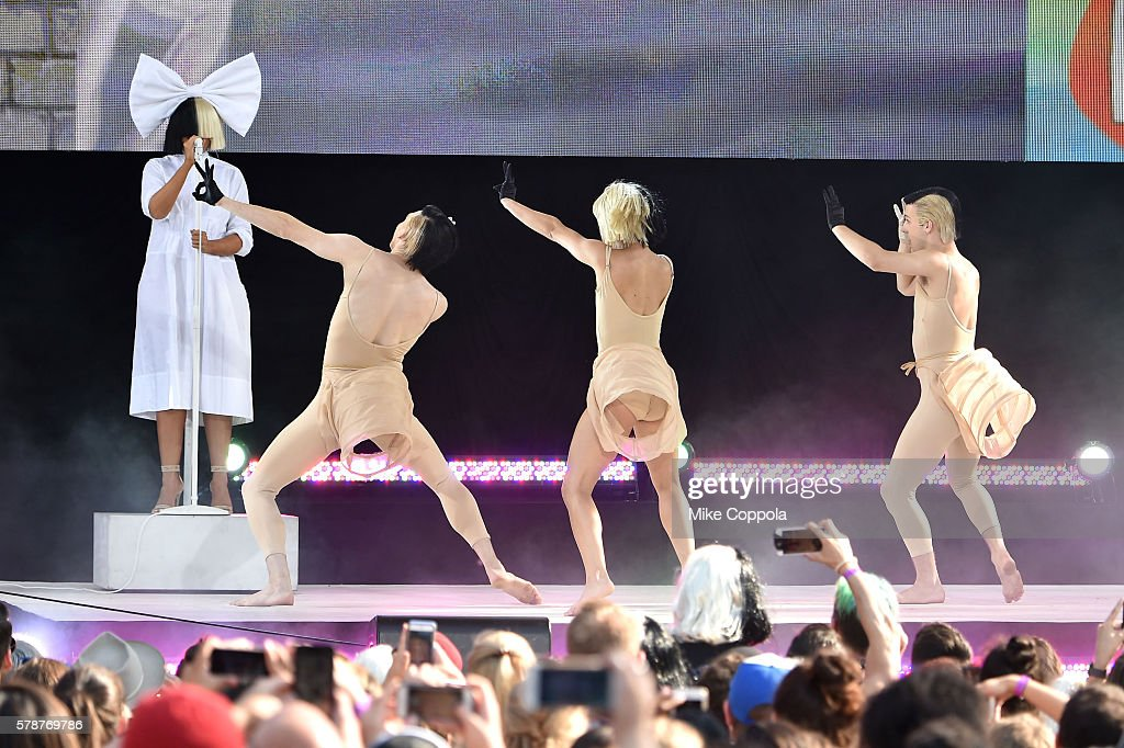 Sia Performs On ABC's 'Good Morning America' show at SummerStage at Rumsey Playfield Central Park on July 22 2016 in New York City