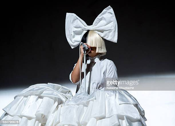 Sia performs on Day 1 of the Boston Calling Festival on Government Center Plaza on May 27 2016 in Boston Massachusetts
