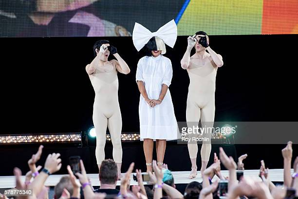 Sia Performs On 'Good Morning America' on July 22 2016 in New York City