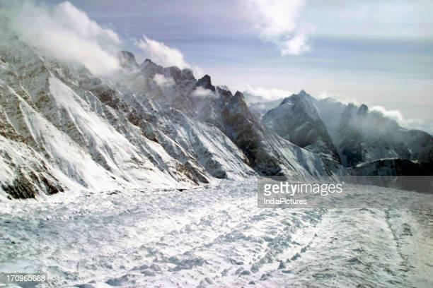 Siachen glacier through Indian Air Force chopper Ladakh Jammu and Kashmir India
