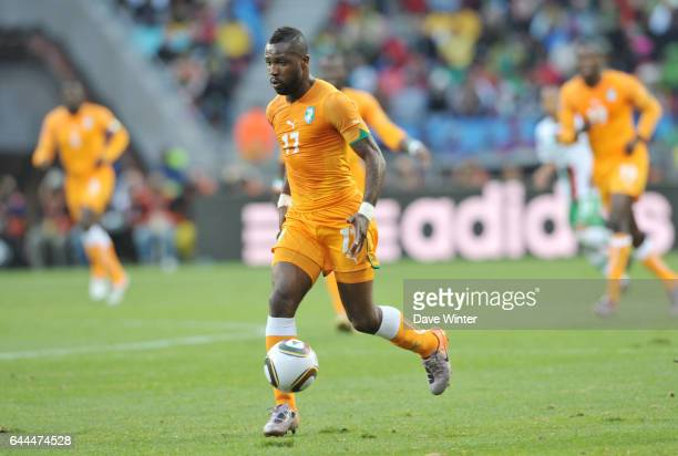 Siaka TIENE Cote d'Ivoire / Portugal Coupe du Monde 2010 Match 13 Groupe G Nelson Mandela Bay Stadium Port Elizabeth Afrique du Sud Photo Dave Winter...