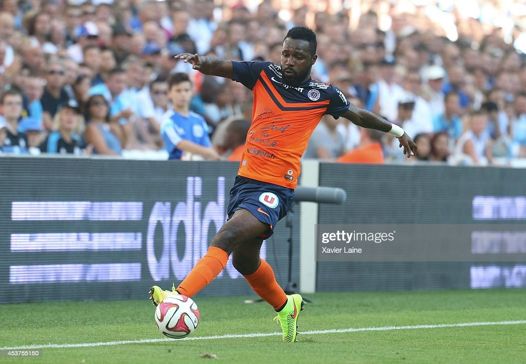 <a gi-track='captionPersonalityLinkClicked' href=/galleries/search?phrase=Siaka+Tiene&family=editorial&specificpeople=788647 ng-click='$event.stopPropagation()'>Siaka Tiene</a> of Montpellier Herault FC during the French Ligue 1 between Olympique de Marseille FC and Montpellier Herault FC at Stade Velodrome on August 17, 2014 in Marseille, France.