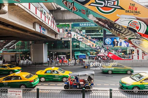 Siam Square, taxis near Siam BTS Skytrain station