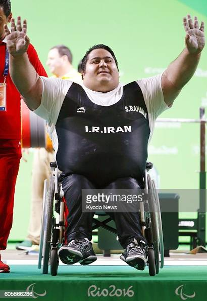 paralympics iran s rahman sets world record in powerlifting