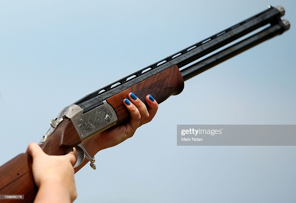 Sian Bruce of Great Britain competes in the Womens skeet during day three of the 2013 Australian Youth Olympic Festival at the Sydney International Shooting Centre on January 18, 2013 in Sydney, Australia.