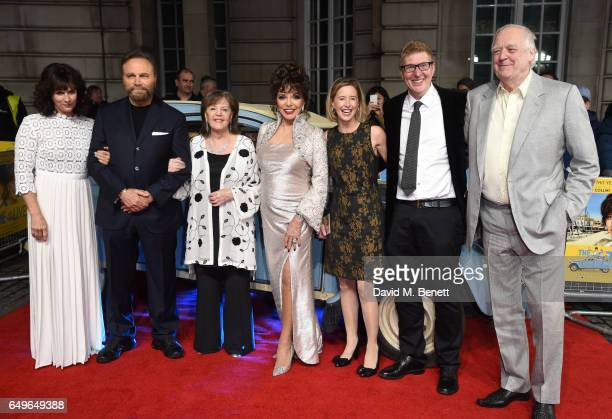 Sian Reeves Franco Nero Pauline Collins Joan Collins Sarah Sulick Roger Goldby and Tim Rice attend the World Premiere of 'The Time Of Their Lives' at...