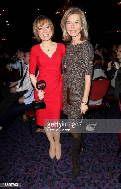 Sian Williams cowinner of the News Presenter/Reporter award and Mary Nightingale attend the TRIC Television and Radio Industries Club Awards at The...