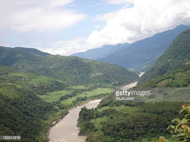 Siang river, Arunachal Pradesh, India