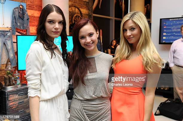 Sianoa SmitMcPhee Amanda Grace Cooper and Brooke Butler at Guess Portrait Studio on Day 2 during the 2013 Toronto International Film Festival at Bell...