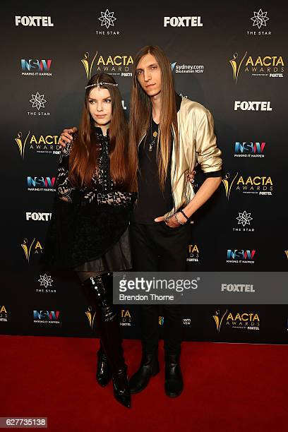 Sianoa SmitMcPhee and John Rush arrive ahead of the 6th AACTA Awards Presented by Foxtel | Industry Dinner Presented by Blue Post at The Star on...